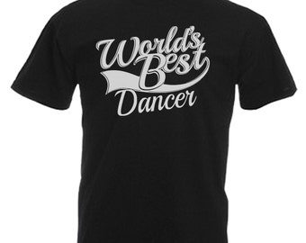 Dancer Gift Adults Mens Black T Shirt Sizes From Small - 3XL