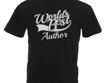 Author Gift Adults Mens Black T Shirt Sizes From Small - 3XL