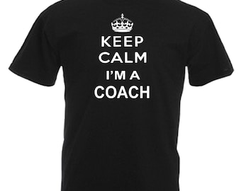Coach Novelty Gift Adults Mens Black T Shirt Sizes From Small - 3XL