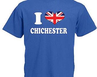 I love heart chichester children's kids t shirt