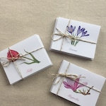 """VARIETY PACK! Spring Watercolor Note Cards - 12 Premium Folded Linen Stock (5.5"""" x 4"""")"""