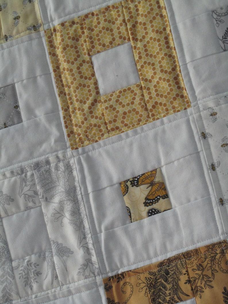Honeybee Quilt Modern Bee Quilt Bee Quilted Throw Bee Quilt Modern Quilt Gender Neutral Teen Bee Quilt Lap Quilt Adult Bee Quilt