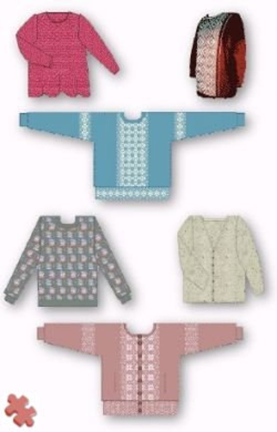 Six Patterns For All Standard Gauge Knitting Machines Etsy