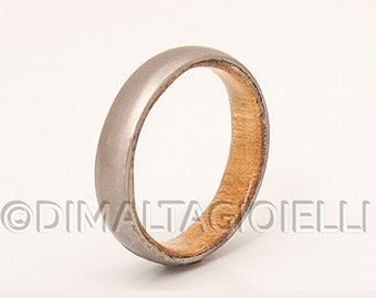 Titanium and maple ring // men's wedding band // wood wedding ring // wood wedding band // titanium  ring bands