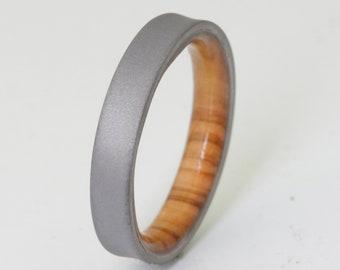 Mens Ring Titanium Ring Sunset Titanium Wedding Ring Etsy