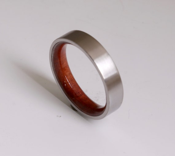 Holz Ring Titan Band Ehering Frau Holz Mann Schmuck Etsy