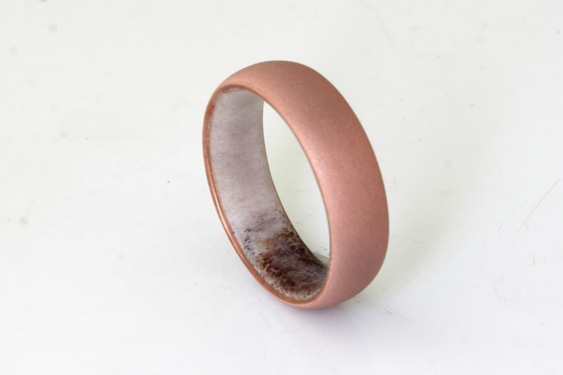 d648852262e4c Antler ring copper wedding band mens wedding ring antler wedding ring  sandblasted ring copper band size 3 to 16 engagement anniversary ring