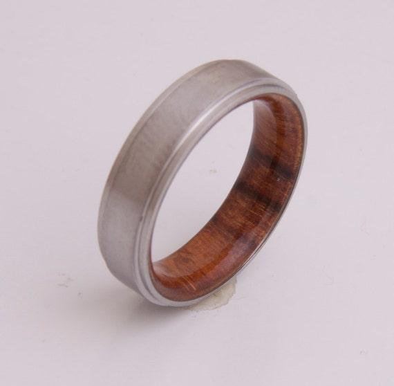 Mann Ehering Titan Und Hawaiian Koa Ring Herren Holz Ringe Etsy