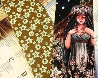 Persephone and asphodels bookmark