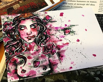 Persephone and roses