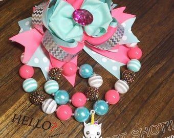 Necklace Bubble Gum Unicorn Set