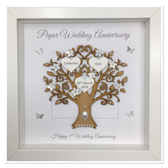 1st 1 Year Paper Wedding Anniversary Married Couple Husband Etsy