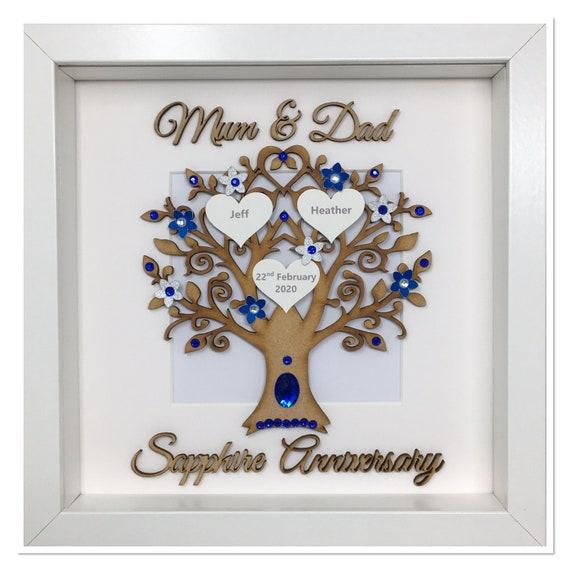 Personalizado Hecho a Mano 55th Tarjeta De Aniversario de Bodas Esmeralda Mamá Papá esposo esposa