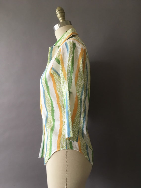 50s The Sunny Painter Shirt - 1950s Vintage Butto… - image 5