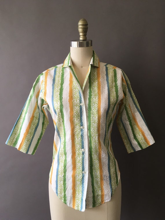 50s The Sunny Painter Shirt - 1950s Vintage Butto… - image 2