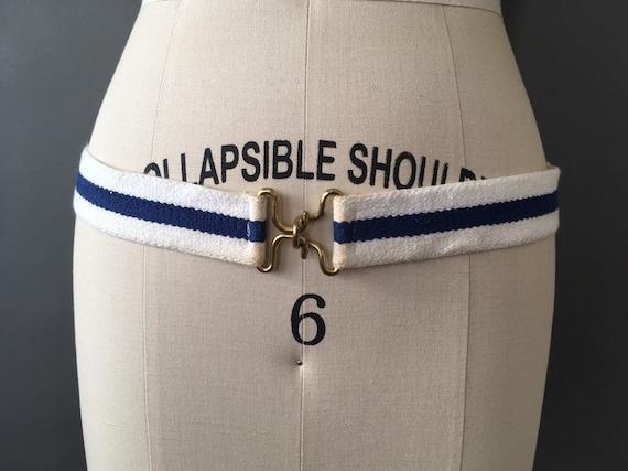 Vintage Stripes Belt - Vintage Stretch Blue White