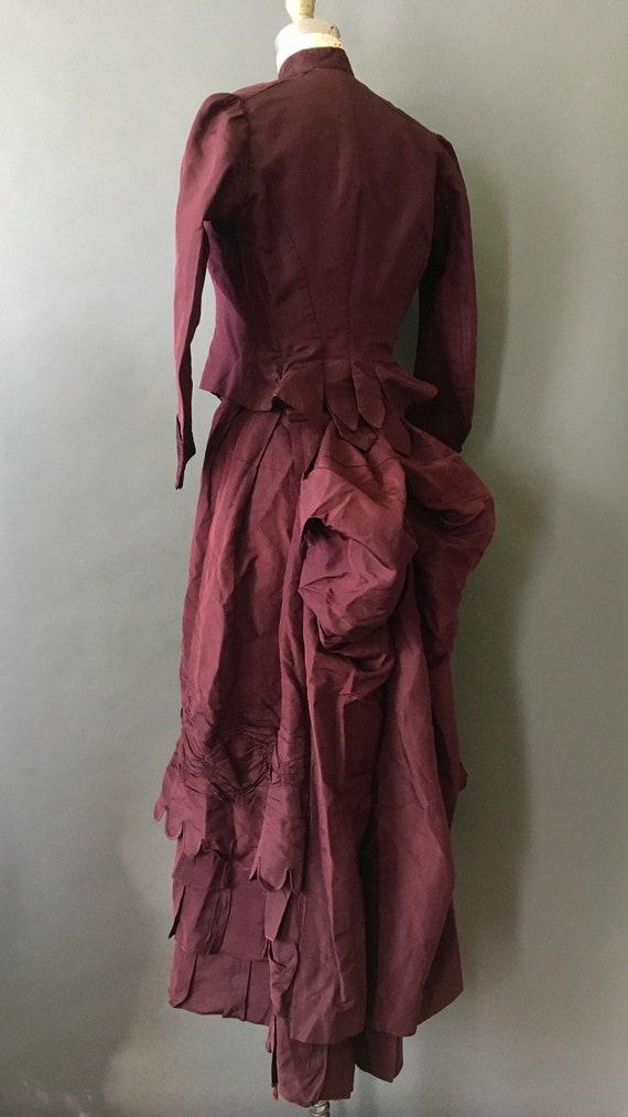 1889 Victorian Wedding Dress - 1800s Antique Deep… - image 5