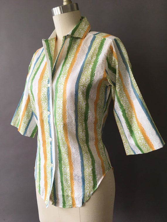 50s The Sunny Painter Shirt - 1950s Vintage Butto… - image 3