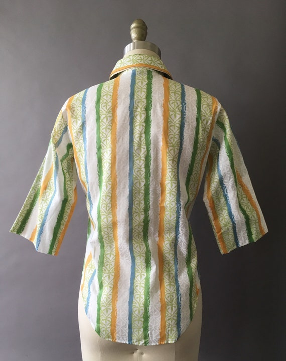 50s The Sunny Painter Shirt - 1950s Vintage Butto… - image 6