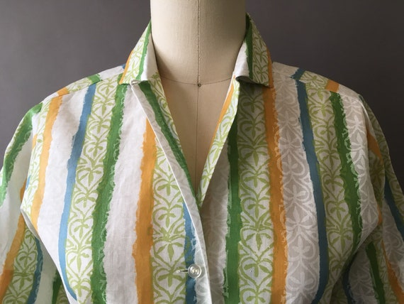 50s The Sunny Painter Shirt - 1950s Vintage Butto… - image 7