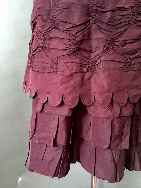 1889 Victorian Wedding Dress - 1800s Antique Deep… - image 8