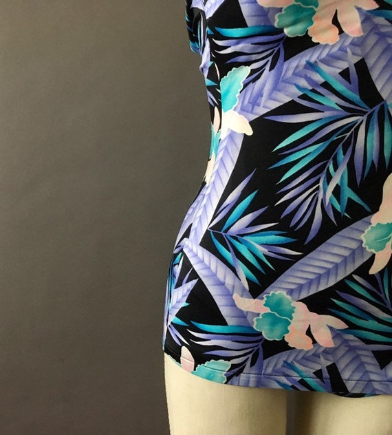 70s Neon Jungle Bathing Suit - 1970s Floral Vinta… - image 6
