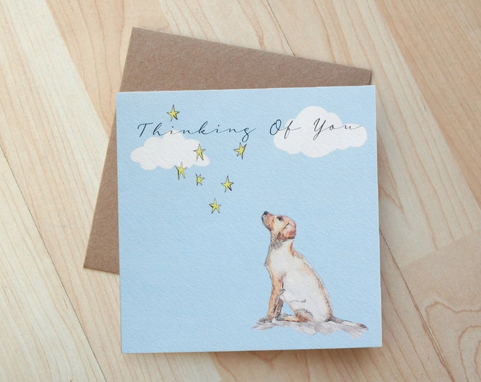 Thinking Of you Labrador Card printed on eco friendly card