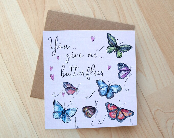 Butterflies Greetings Card printed on eco friendly card