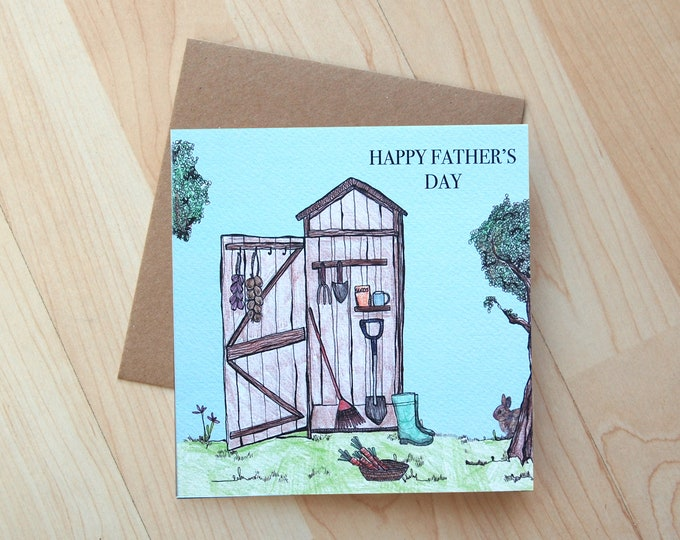 Father's Day Greeting Card printed on eco friendly card