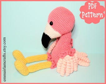 Flamingo Crochet Pattern, Flamingo Crochet, Crochet PDF Pattern, Flamingo Plush, Bird Plushie, Flamingo Toy, Crochet Toy, Cute Bird,