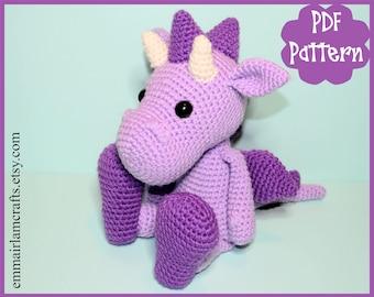 PDF - Dragon Crochet Pattern, Dragon Amigurumi, Amigurumi Pattern, Dragon Plush, Dragon Plushie, Dragon Toy, Crochet Toy, Amigurumi Tutorial