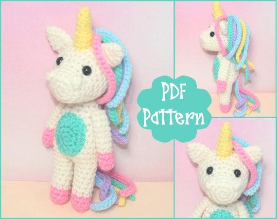 Free Crochet Unicorn Pattern - thefriendlyredfox.com   452x570