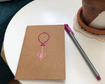 Pink balloon Pocket Notebook