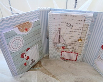 "Scrapbook Photo Album ""Summer Time"" 17 x 20 cm scrapbooking soft cotton cover"