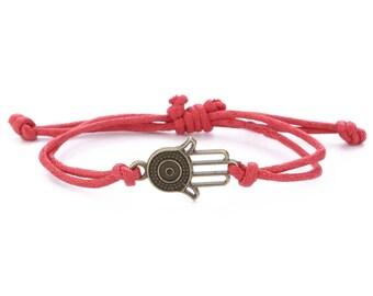 Hamsa Bracelet // Hamsa Charm // Bracelet Hamsa // Dainty Bracelet // String Bracelet // Best Friend Bracelet // Cord Bracelet //