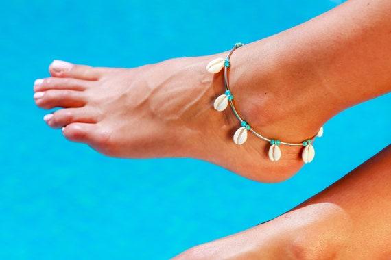 Shell Anklet Seashell Anklet Shell Ankle Bracelet Boho Etsy