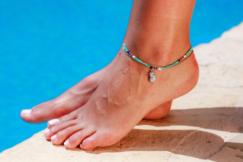 Ankle Bracelet Pineapple Island Handmade Anklets Bohemian Ladies Womens Girls