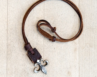 Mens Leather Necklace // Leather Necklace For Men // Boho Necklace // Guys Necklace // Necklace for Guys // Necklace Leather / Boys Necklace