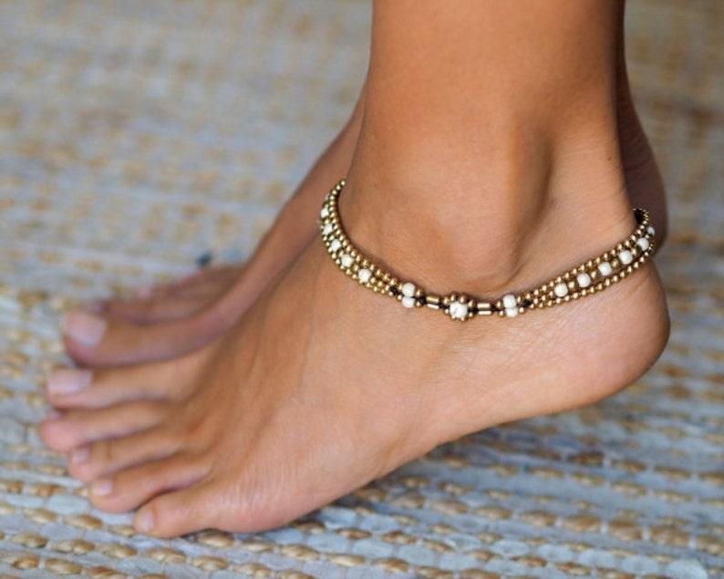 Anklets For Women // Ankle bracelet // Women Anklet // White image 0