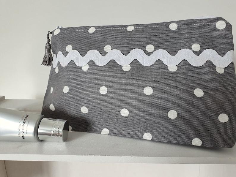 Cotton linen fabric makeup bag