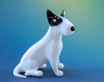 Murano Art handmade Original Blown Glass Figurine Staffordshire Bull Terrier