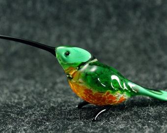 Bird art, hummingbird - Glass animals, Art glass