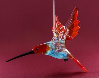 Flying birds, hummingbird - Glass animals, Art glass