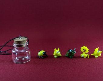 Tiny Glass Animals • Unique Gift Glass Figurine, Murano glass in Brown, White Color • Terrarium decor • Gift For Her • Personalized Gift