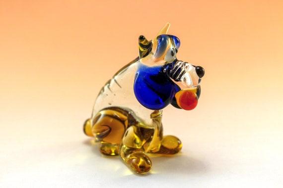 Glass Dog Glass Animal Sculpture Glass Figurine Glass Figure Glass Animals Glass Figurines Glass Figures Dog n31