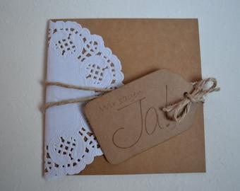 Invitation wedding vintage