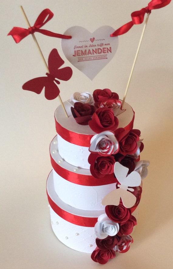 Geldgeschenk Hochzeit Torte Midi Etsy