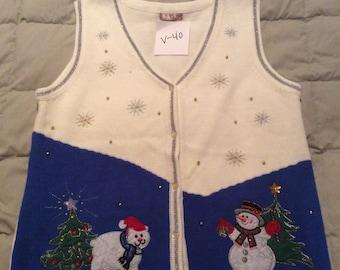 Holiday Greenery Vest V-46 Large NWT