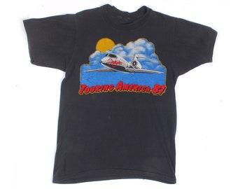 Vintage 80s T-Shirt - Vintage Foghat T-Shirt - 80s Foghat T-Shirt - 80s Band T-Shirt - 80s Tour T-Shirt - Single Stitch - 80s Rock T-Shirt