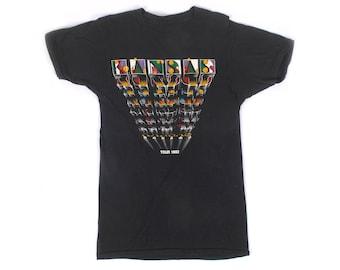 Vintage 80s T-Shirt - Vintage Kansas T-Shirt - 80s Kansas T-Shirt - 80s Band T-Shirt - 80s Tour T-Shirt - Single Stitch - Vinyl Confessions